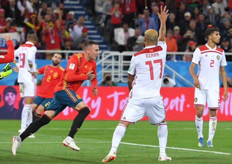 Espanha tropeça e apenas empata com o Marrocos. Crédito  Patrick Hertzog AFP eb73db54e6ce4