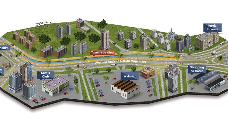 Obras do BRT alteram o trânsito na avenida ACM
