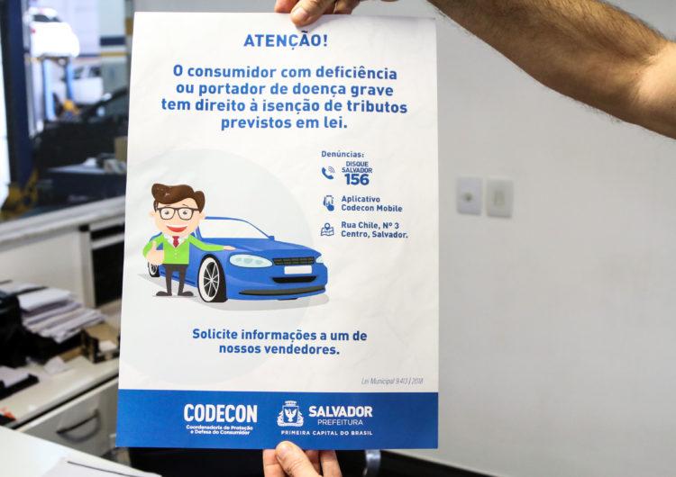 Codecon realiza campanha educativa em concessionárias