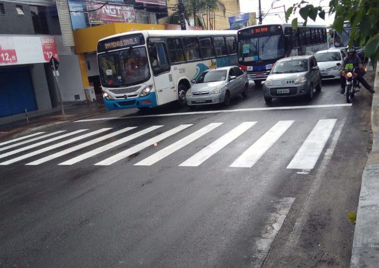 Prefeitura intensifica sinalização horizontal