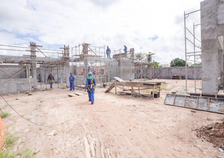 Obras na creche da avenida Industrial Urbana seguem em ritmo acelerado