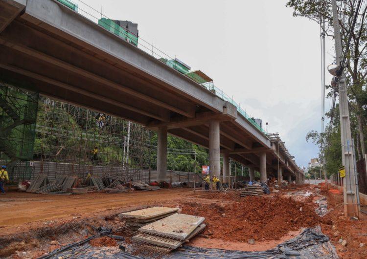 Quase 50% das vigas do BRT já foram instaladas